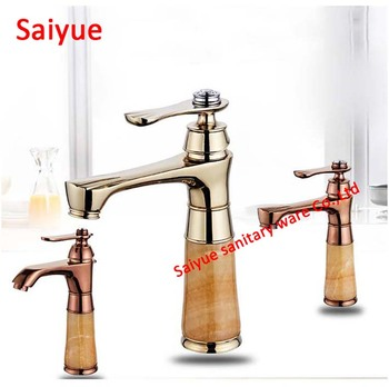 Bathroom basin gold/rose gold White painting faucet, Brass with Diamond/crystal body tap Luxury Single Handle hot and cold tap