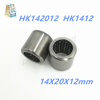10pcs HK1412 14*20*12mm 14mm shaft needle roller bearing whosale and retail draw cup bearing 14X20X12mm TLA1412Z