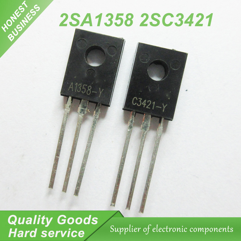 20 adet A1358 C3421 2SA1358 2SC3421 2SA1358-Y 2SC3421-Y TO-126 ses amplifikatör (10 ADET * A1358 + 10 ADET * C3421) yeni orijinal